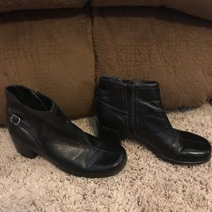 Naturalizer Black Ankle Boots Booties Size 6.5 VGC